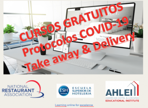Protocolos COVID-19 – Take away & Delivery – Cursos on line – Sin costo